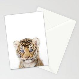 Baby Tiger Art Print by Zouzounio Art Stationery Cards