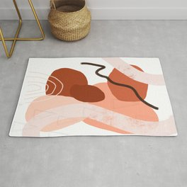 Abstract Collage in Rust Rug