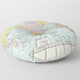 World Map Floor Pillow