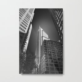 Sydney City Towers - Upwards perspective in black and white. Metal Print