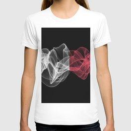 Italy Smoke Flag on Black Background, Italy flag T-shirt
