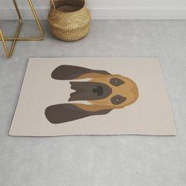 Bloodhound Face Rug