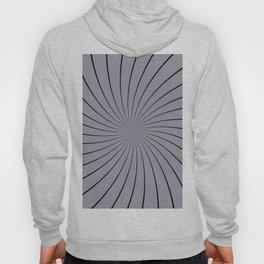 3D Pantone Lilac Gray with Black Thin Striped Circle Pinwheel Hoody