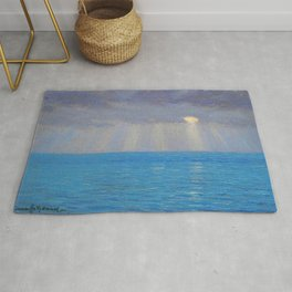 Ocean Sunset, California by Granville Redmond Rug