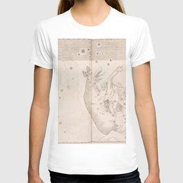 Johann Bayer - Uranometria / Measuring the Heavens (1661) - 44 Lupus / The Wolf T-shirt