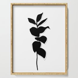 Plant silhouette line drawing - Evie layered Serving Tray