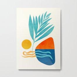 Modern Pop Abstract Landscape Metal Print