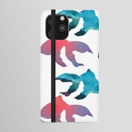 Pattern Oil Painting Abstract Tropical Fish iPhone Wallet Case