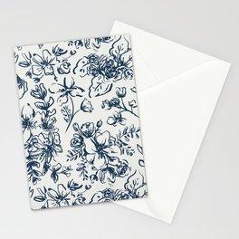 Dark Shadow Floral Stationery Cards