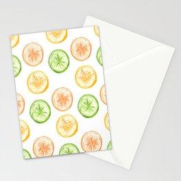 Citrus Trio: Lemon, Lime, and Orange Stationery Cards