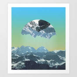 Somewhere out there. Art Print