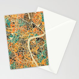 London Mosaic Map #3 Stationery Cards