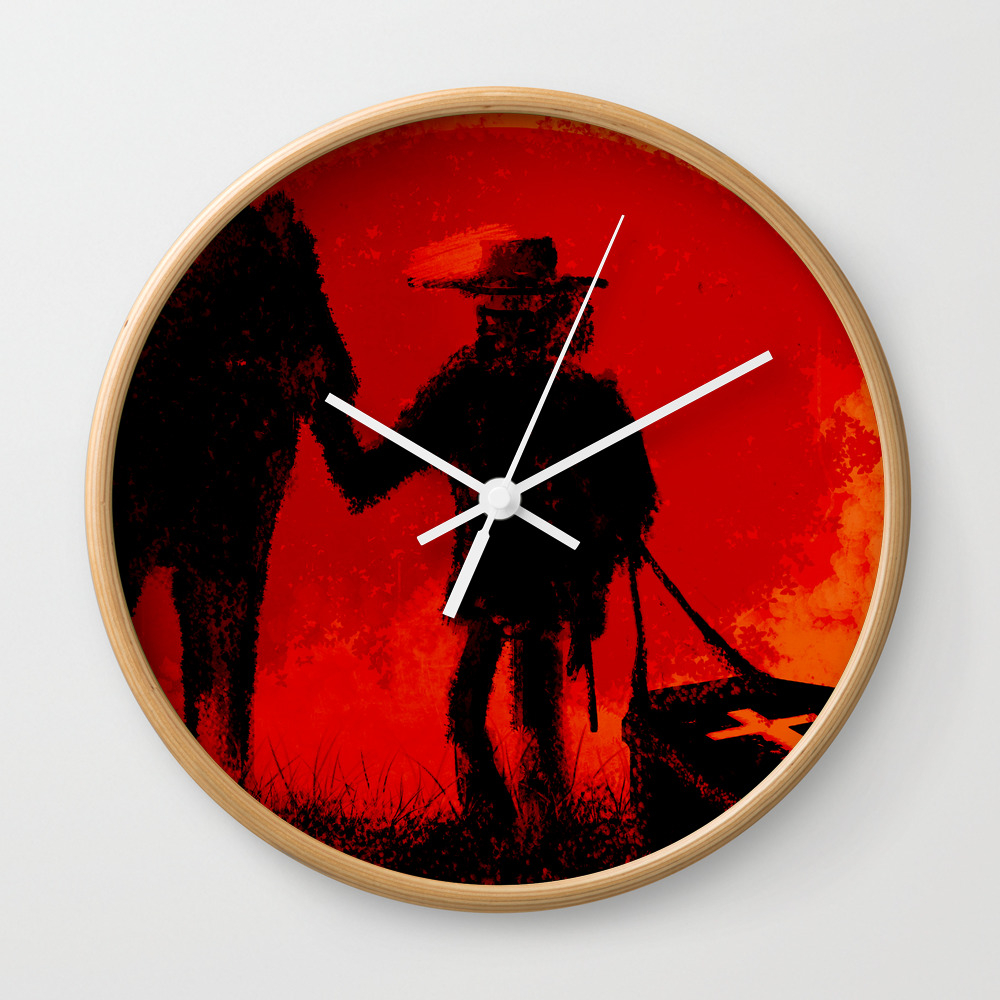 Django Wall Clock by Peckinpah CLK930750