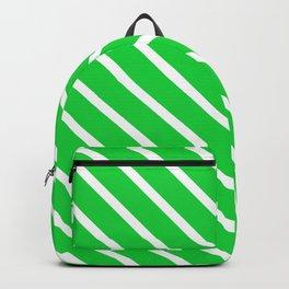 Green Slime Diagonal Stripes Backpack