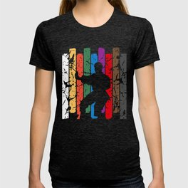 Retro Karate Pose Silhouette T-shirt