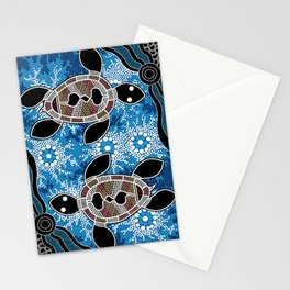 Aboriginal Art - Sea Turtles Stationery Cards