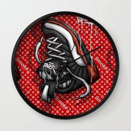Sneaker Smoké Red Royal Stain Wall Clock
