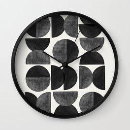 Mid Century, Retro Geometric Art Wall Clock
