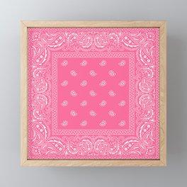Bandana - Paisley - Southwestern  Framed Mini Art Print