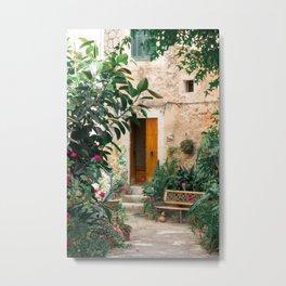 Pretty street in Valldemossa, Mallorca Metal Print