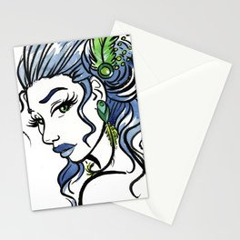 Fashion Girl Stationery Cards