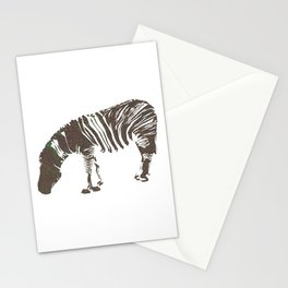 Abstract Zebra Stationery Cards