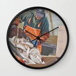 Cape Cod Fresh Fish Wall Clock