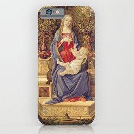 Botticelli - Madonna With Saints iPhone Case