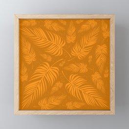 Leaves V2 ORANGE2 Framed Mini Art Print