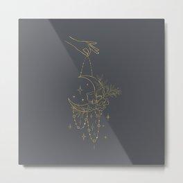 Bohemian Celestial Moon Metal Print