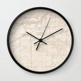 CA Clements 302743 1952 24000 geo Wall Clock