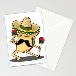 Cinco De Mayo -  Taco Dancing Sombrero Maracas Stationery Cards