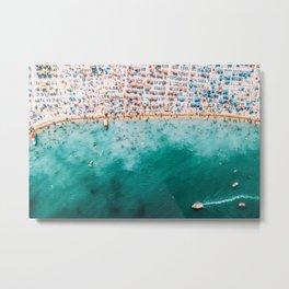 Ocean Beach Art, Aerial Photography, Aerial Beach Print, Printable Art, Sea Print, Ocean Poster, Modern Beach Print Metal Print
