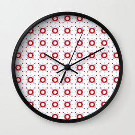 Symmetric patterns 145 Blue and red Wall Clock