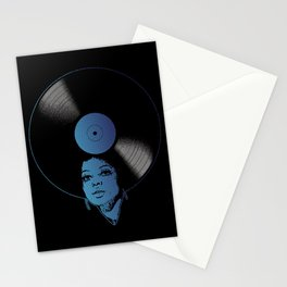 Afrovinyl (Kinda Blue) Stationery Cards