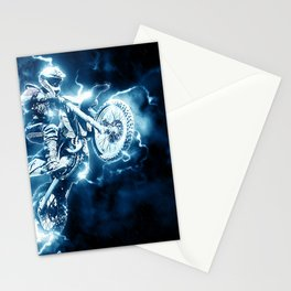 Motocross Stunt Jump Electrifying Stationery Cards