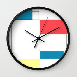 De Stijl Revival Wall Clock