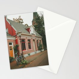 Amsterdam red house Stationery Cards