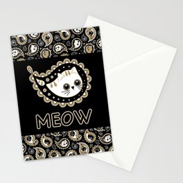 Cat Paisley Stationery Cards