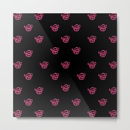 Pink lips -LBC Metal Print