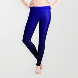 Black - Blue Ombre Gradient Leggings