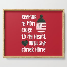 Red Friday Keeping My Mom Close to Heart Serving Tray