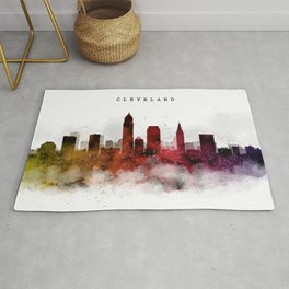 Cleveland Watercolor Skyline Rug