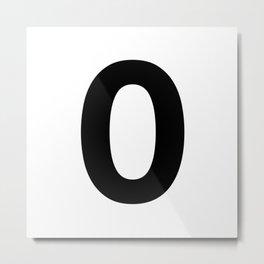 Number 0 (Black & White) Metal Print