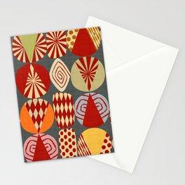 christmas tree MINIMALIST (grey) Stationery Cards