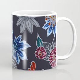 Peacock Floral in Midnight Coffee Mug