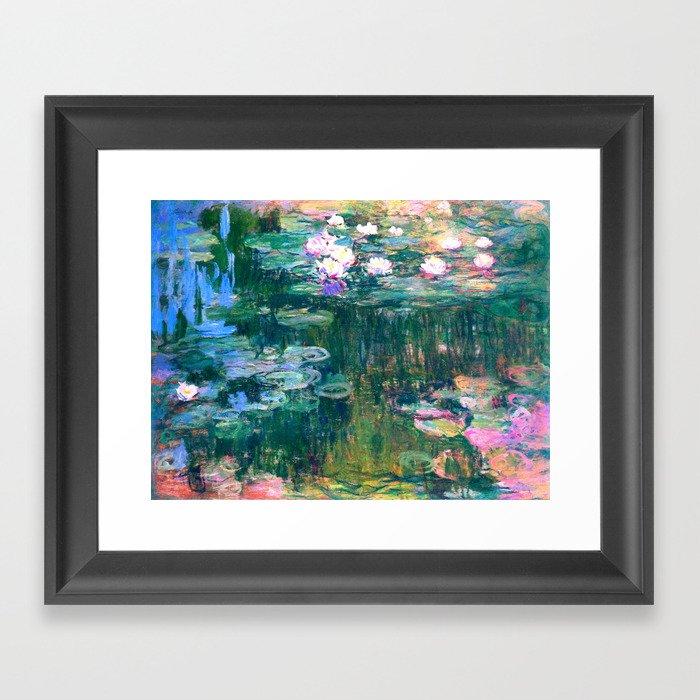 water lilies : Monet Gerahmter Kunstdruck