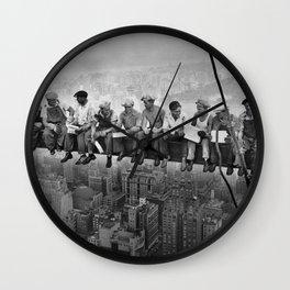 Lunch atop a Skyscraper Wall Clock