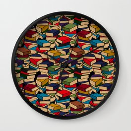 The Book Collector Wall Clock