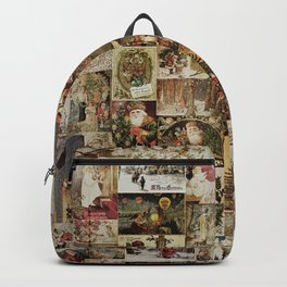 Merry Christmas - Santa angels & friends - collage Backpack